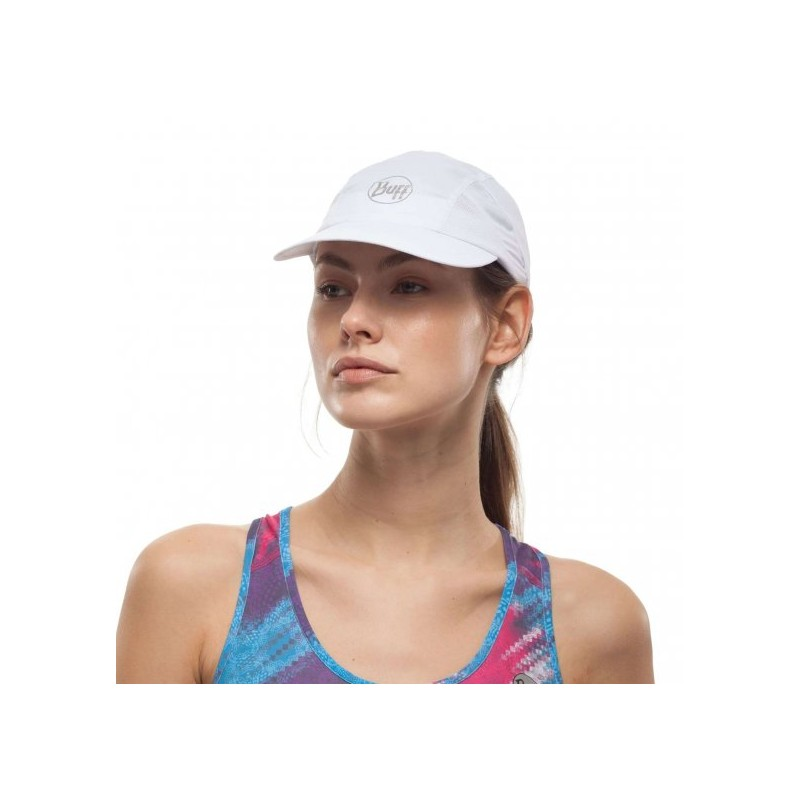 Kapa s šiltom BUFF RUN CAP SOLID WHITE